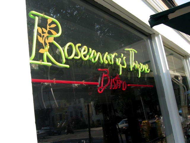 Rosemary's Thyme restaurant at 18th and S.