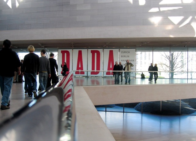 The DADA exhibit sign at the National Gallery of Art.