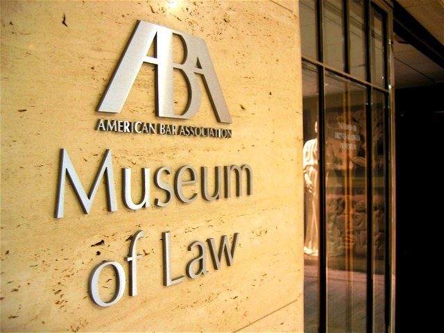 The entrance to the ABA's Museum of Law in Chicago.