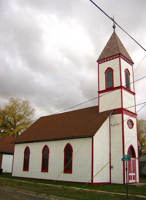 An old church in West Laramie